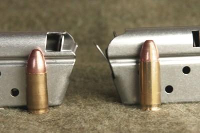 Left to Right 9mm Magazine 38. Super Magazine
