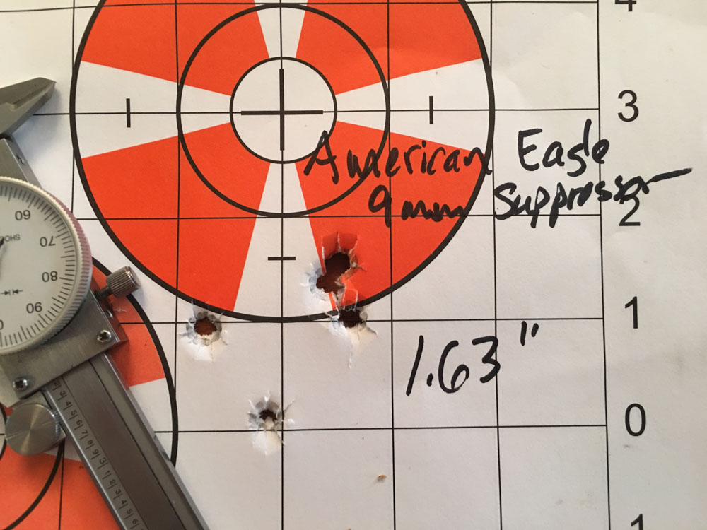 For lower cost plinking ammo, it'll shoot pretty well.