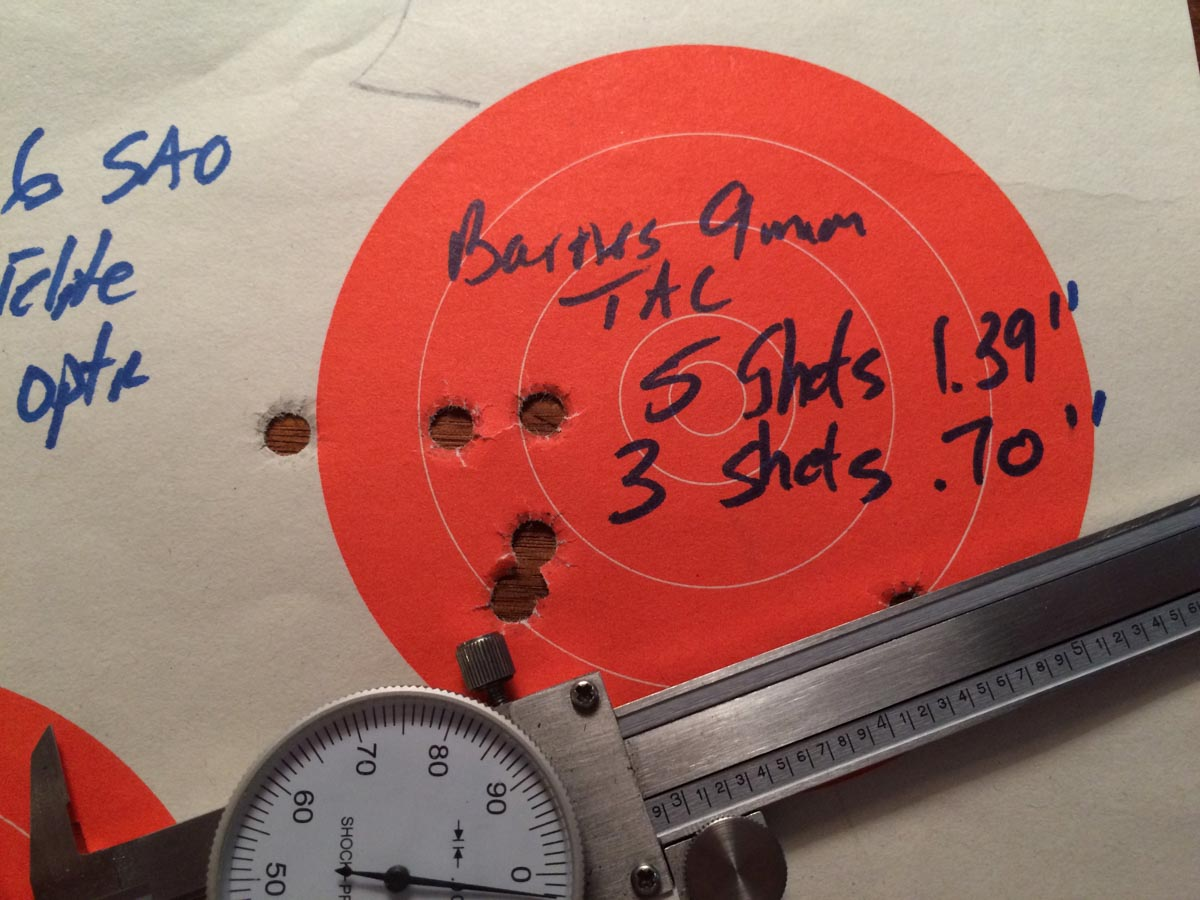 This ammo shot sub two-inch 5-shot groups with regularity.