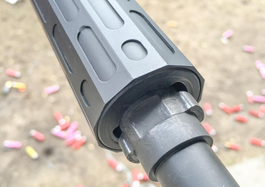 The suppressor will only mount one way as the lugs are different sizes.