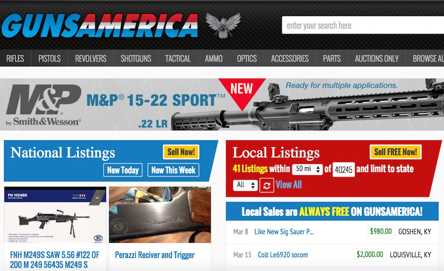 GunsAmerica!  The most trusted place on the internet to buy and sell firearms!