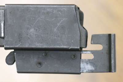 Magazine loader attached to magazine side.