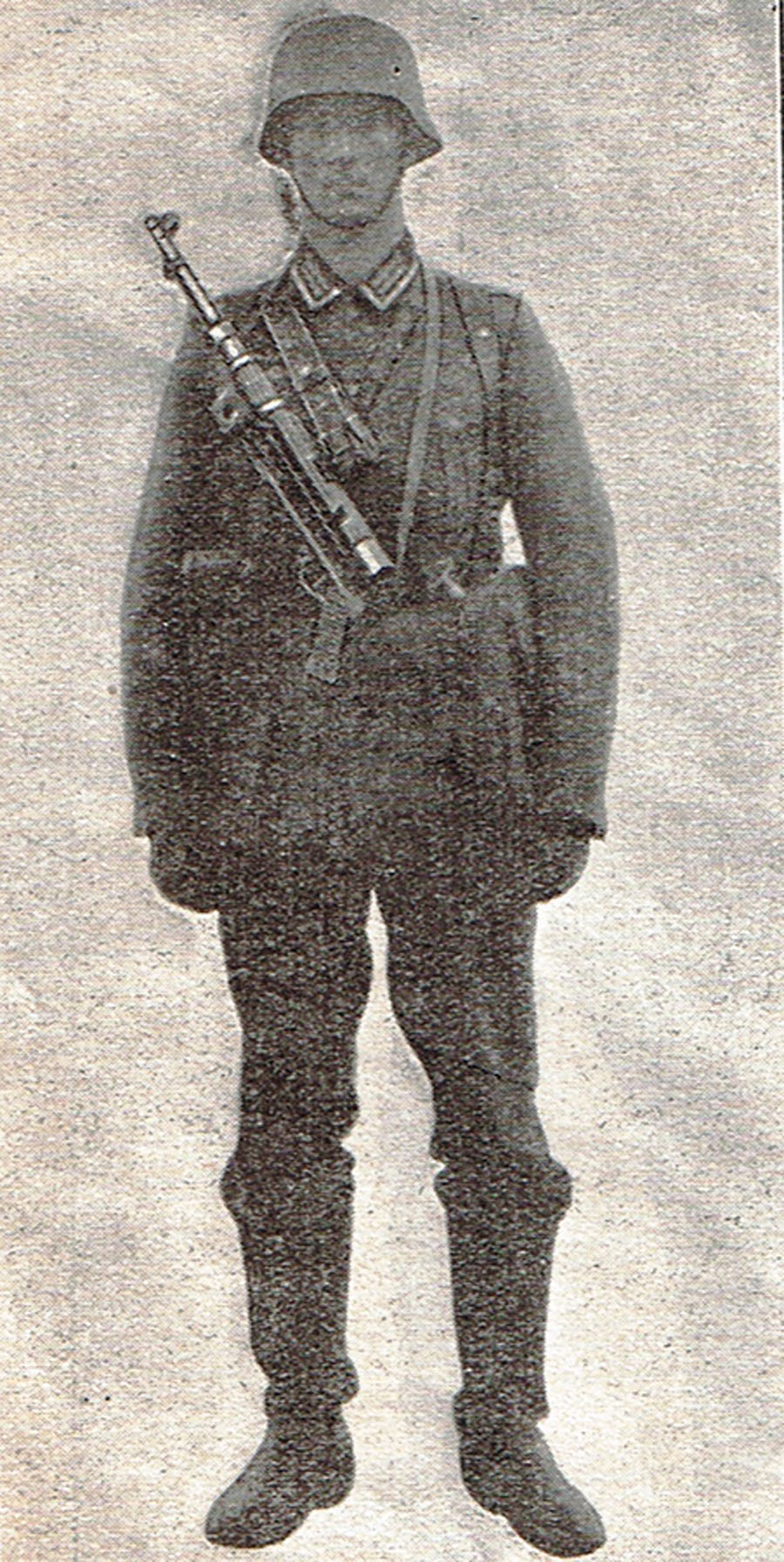 German infantry goon with MP40 slung.