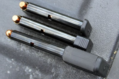 Extended mags are availabe, and work fine, but (for what I want to use it for) they make the P3AT harder to conceal.