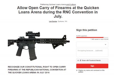 A look at the petition for open carry at the GOP convention.
