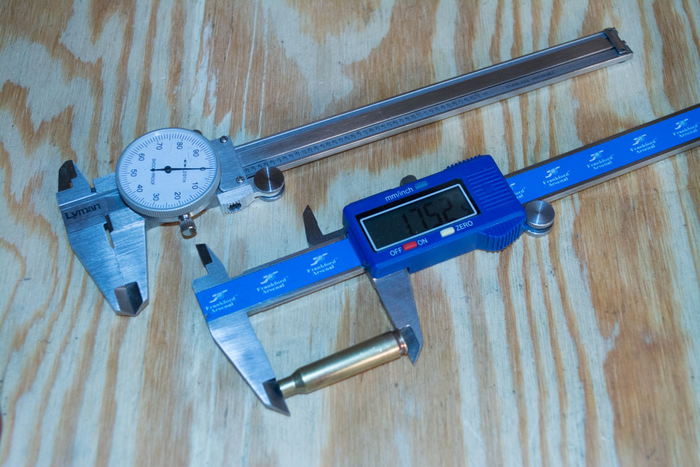 Analog (top) and digital (bottom) calipers for measuring stuff precisely.