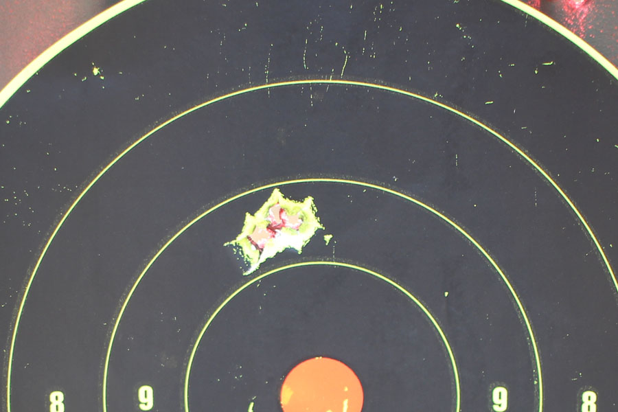 This is my first group with the ZQI match grade .308. This is off of the bipod from 100 yards using the Oculus 3-9x50. Not bad.
