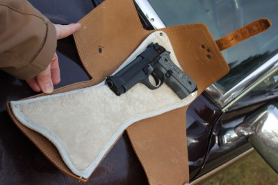 Here you can see Wilson Combat's take on the M9. There's a lot of room in the medium sized wrap.