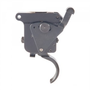 If you want something more from the trigger, aftermarket drop-ins are available. This is a Timney.