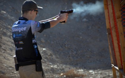 Tim Yackley, shooting USPSA Limited Division.