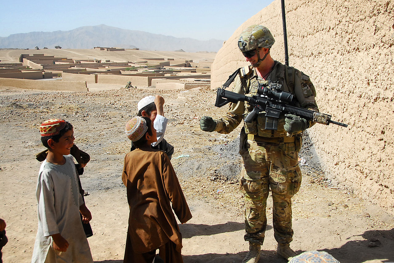 Australian Army Pvt. Levi Mooney and his Heckler & Koch rifle in Afghanistan. (Photo: Sgt. Jessi Ann McCormick) sniper rifle