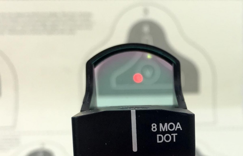 Using a zero magnification red dot sight like this Burris FastFire 3 supports your natural tendency to focus on the target and there are not three different focal points (front sight, rear sight, and target) to worry about.