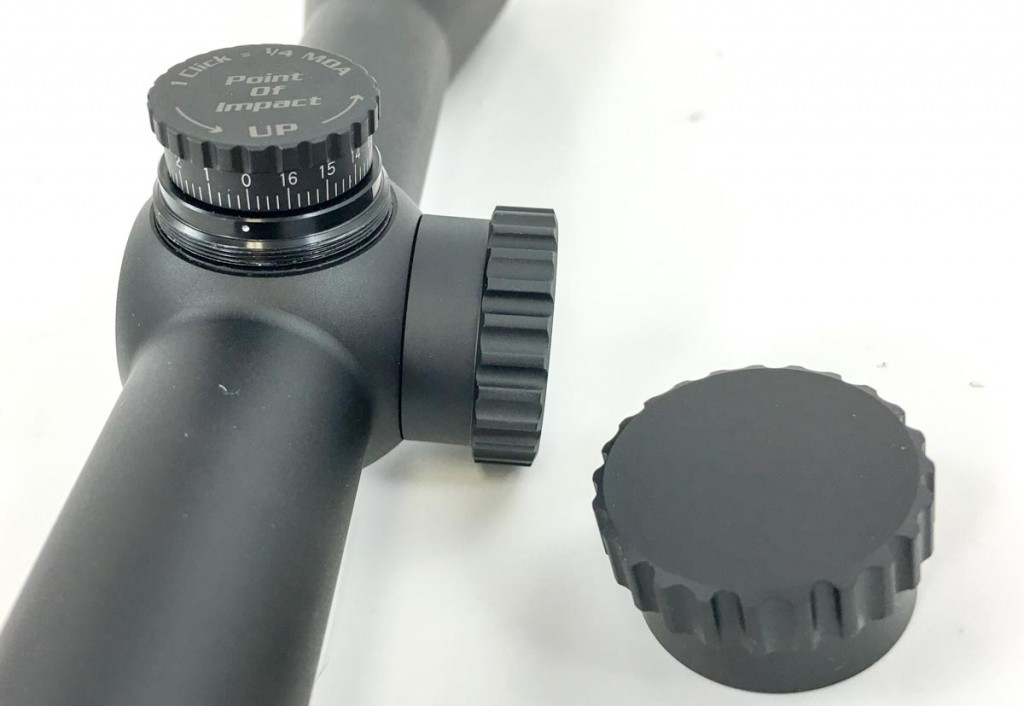 This Burris Fullfield II scope uses traditional covered turrets. However, when you remove the caps, they are hand adjustable. Some require a tool or screwdriver.