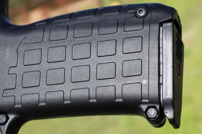 The panels on a Kel-TEc aren't agressive, but the grip shape still fills the hand, and the protrusions keep you from slipping.