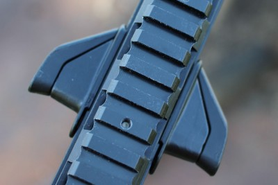 The charging handle seen from below.