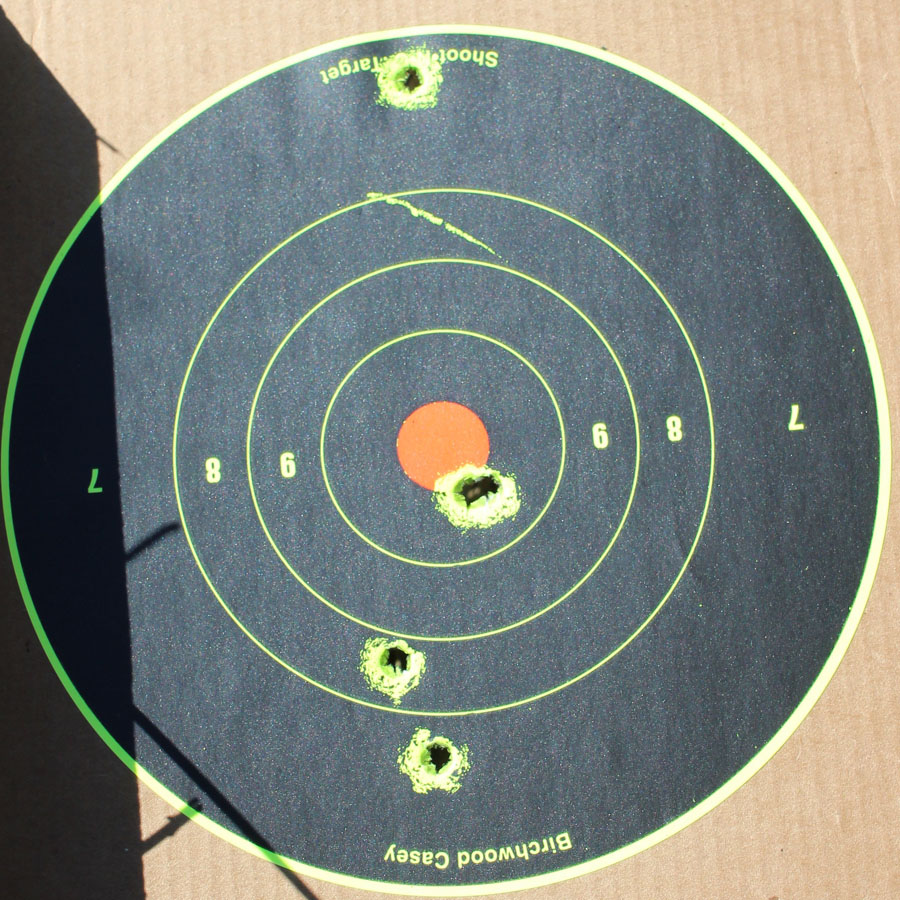 5 from 100 yards. The two in the red were dumb luck. At 100 yards, the irons are hardly a surgical tool.
