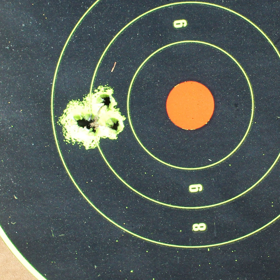 5 rounds from 25 yards.