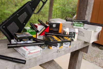 Several of the barrels will shoot multiple calibers 38/357 & 45 Long colt/.410 shotgun.