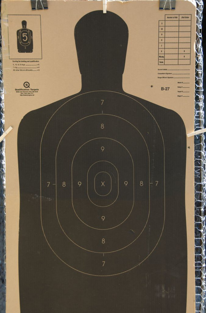 This was the largest target. I had only three of the five rounds found it.