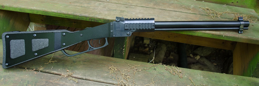 The rifle, without inserts or ammo, is light--under 6 pounds.