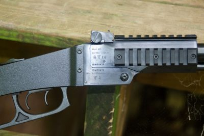Three plastic accessory rail's come standard on the gun
