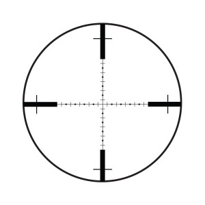 Crosshairs the Burris XTRII 210 scope hashes are one, mill dot (dots are half increments)