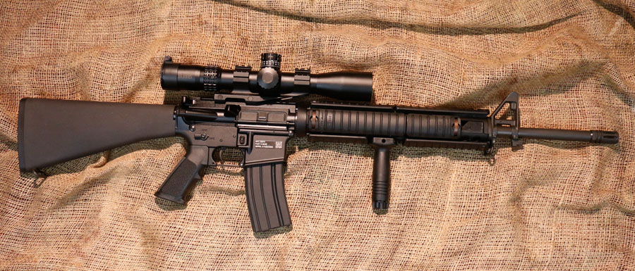 Complete rifle with Burris XTRII 210 scope added