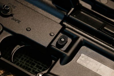 In addition to the ambidextrous safety it has the new enhanced magazine release button