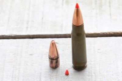 7.62 x 39 bullet retrieved from gel zero expansion ballistic tip broken