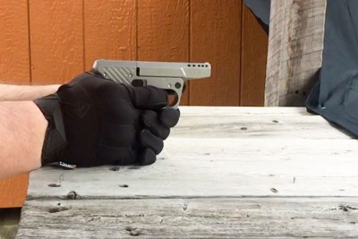 Gloves were used for the 76 2 x 39 rounds to dampen the Recoil.
