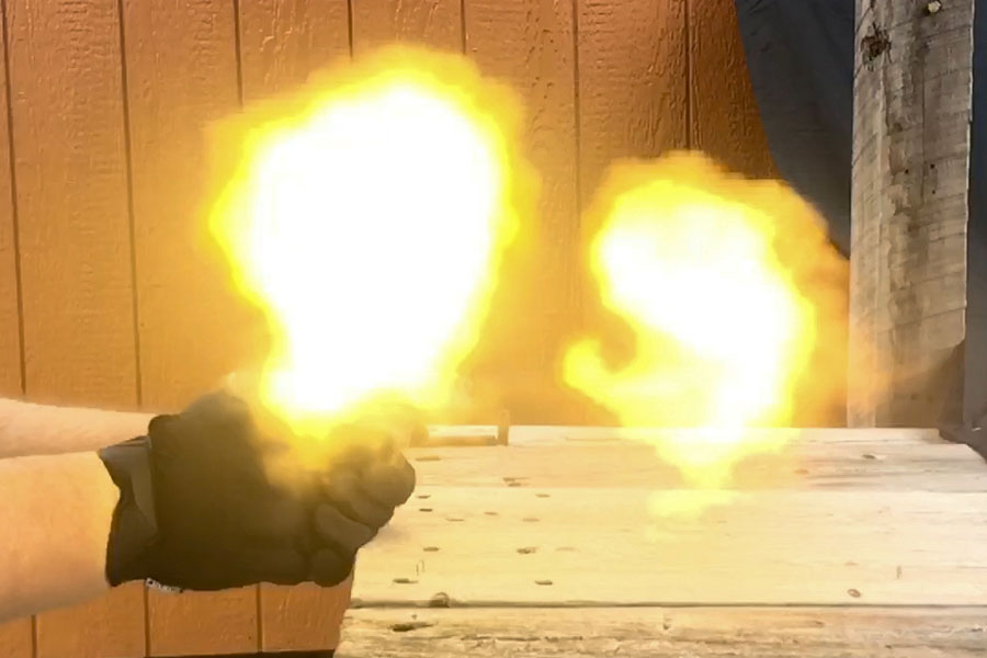 Flame from 7.62 x 39 coming from working of barrel and muzzle of barrel