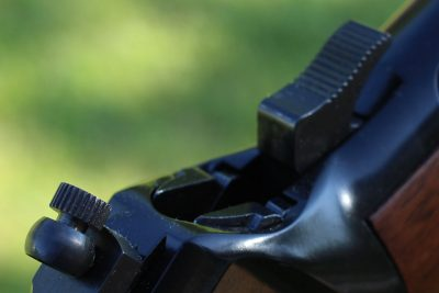 The hammer is easy enough to cock in this configuration, though you may prefer to add an extension if you plan on using a scope with the rifle.