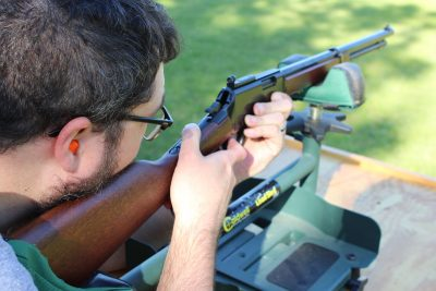The .22 Magnum round offers much more range than the .22 long rifle.