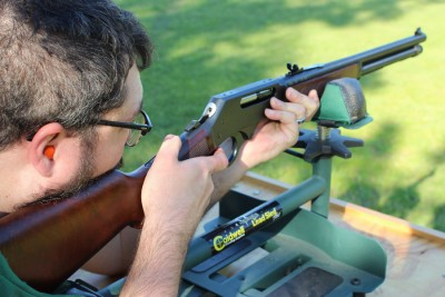 Testing out accuracy with iron sights at 100 yards tests your skills more than the gun's abilities.
