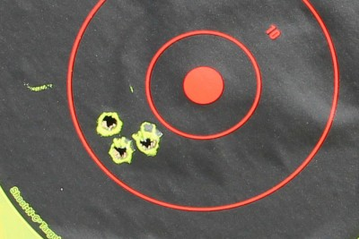 The .45-70 from 50 yards.