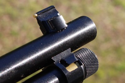 Note how the new sight and magazine tube connect with dovetails.