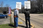 Three-Man Protest Seeks to Bring Down Gun Industry