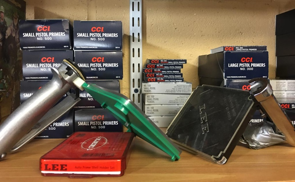 Depending on your equipment setup, there are a number of ways to re-prime cases for reloading.