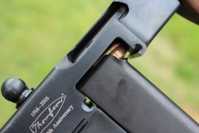The rounds are visible when the mag is loaded.