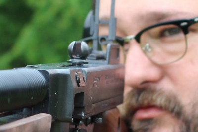 "My one complaint about the rear sight is that I end up with my face very close to the peep sight. At 6'4"" I need another 3+ inches of stock."
