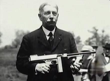 General John Thompson with his personal approach to the .45 ACP.