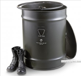 I have linked to this metal barrel and a plastic pickle barrel above. Either would be great for stuffing with Walmart rice, beans, and flour. They can also be used for fuel.
