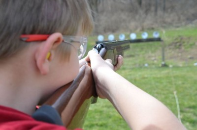 One key in shooting a shotgun well is having a gun that fits. This is a good example of how the eye functions as a rear sight, and being able to see straight down the rib