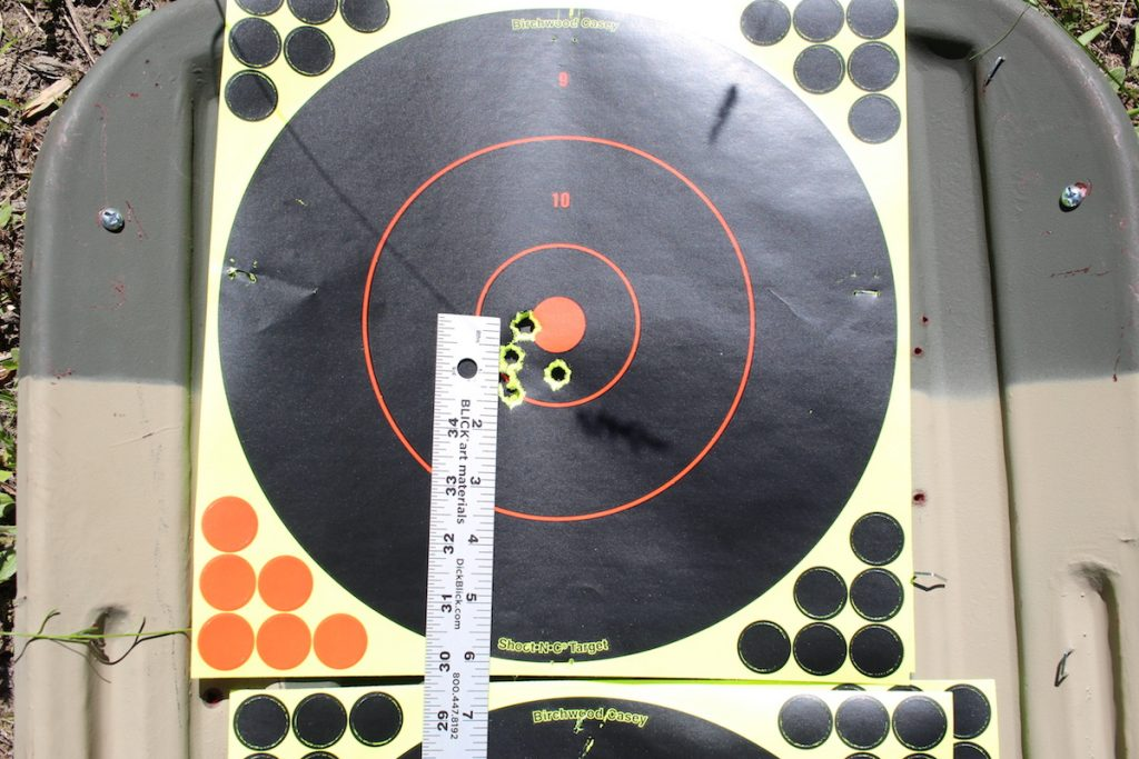 At 200 meters the groups opened up to just under 1 ¾ on an inch.
