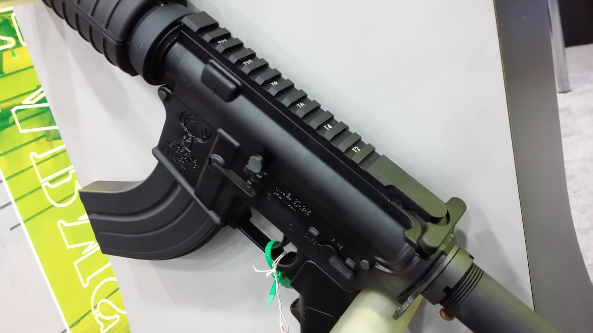 The new Stag Arms gun features a strip of integral Picatinny rail atop the upper receiver, making the use of optics a breeze.