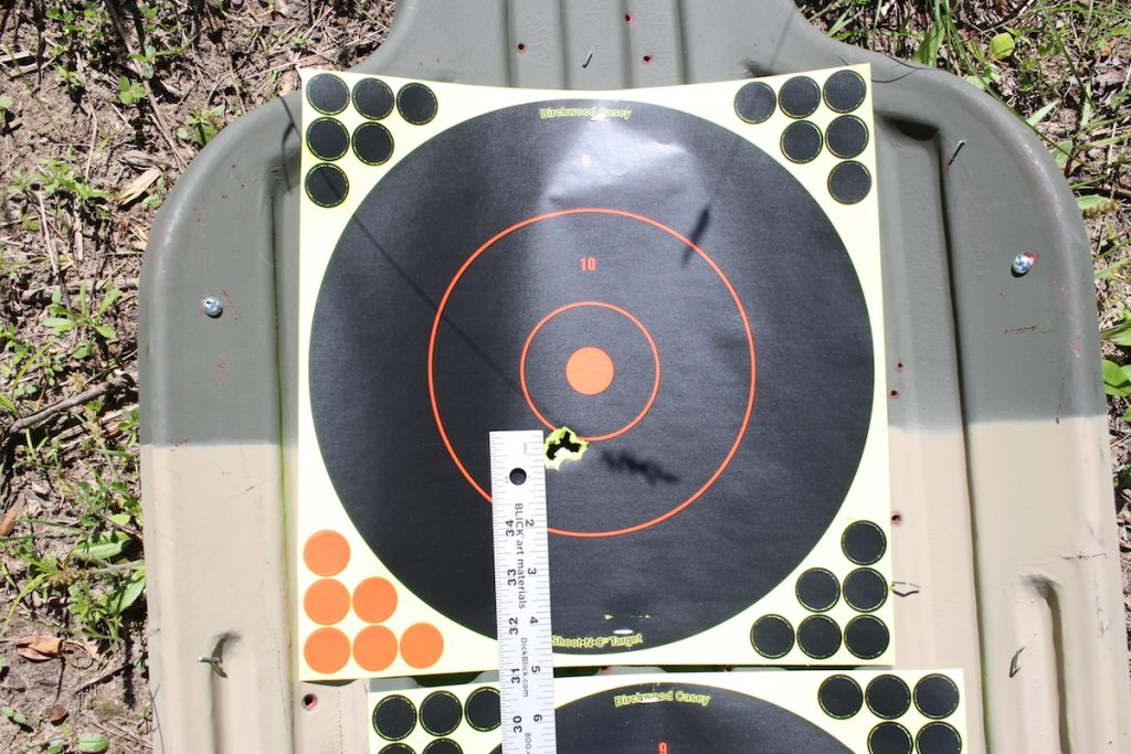 At 100 meters the MOD*X-equipped gun was shooting right at ¾ of an inch groups.