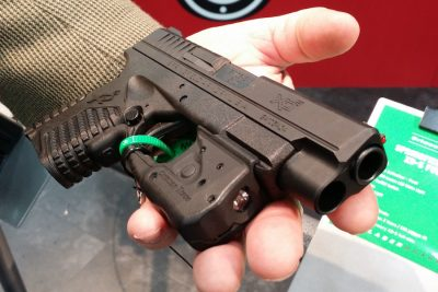 Although not officially released yet, Crimson Trace also showed a version of the Laserguard Pro for the Springfield Armory XD-S series of pistols.