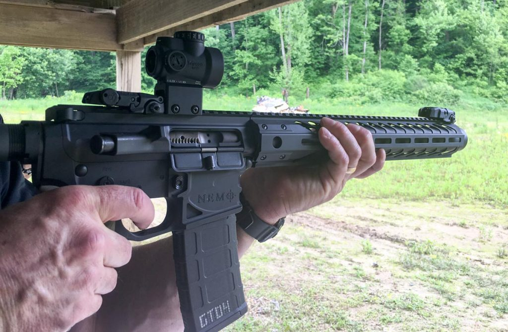 As the suppressor is part of the 16-inch barrel, the Integra makes a handy rifle.
