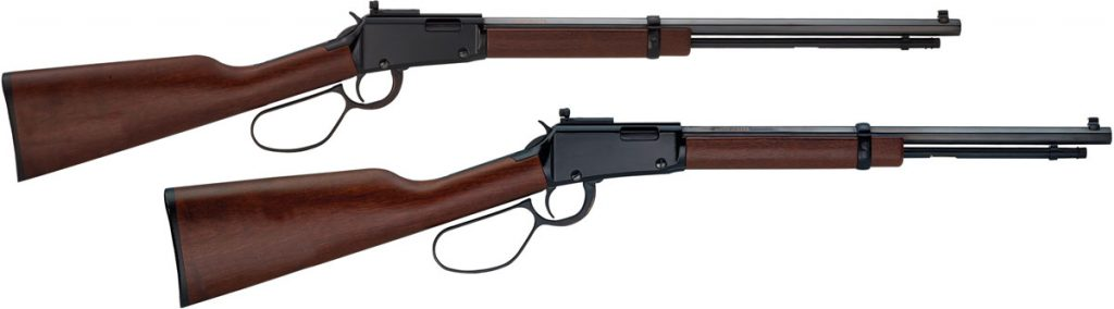 The rifle version (top) has a longer barrel and higher capacity, than the carbine (below)