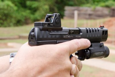 The author easily fitted out the Q5 Match with a Trijicon RMR red dot for testing.